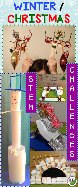 5 Winter-Christmas STEM challenges to make the most of the holiday season. Includes modifications for grades 2-8.