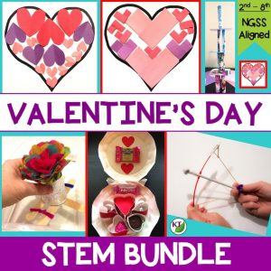 Valentine's Day STEM Challenge Activities with modifications for grades 2 -8 included.