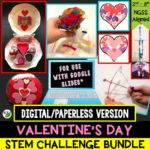 Click here for the digital/paperless version of my Valentine's Day STEM Challenge Bundle