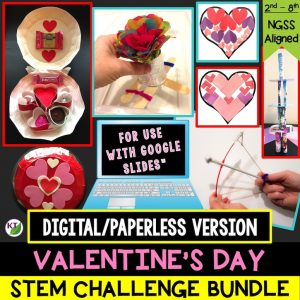Click here for the digital/paperless version of the Valentine's Day STEM Challenge Bundle