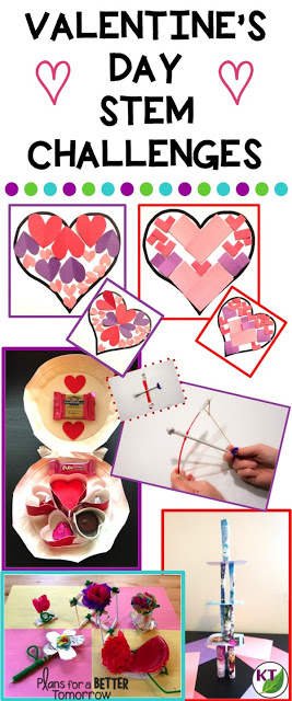Valentine's Day STEM Challenges push your students to think critically, problem-solve, and collaborate while reinforcing math and science standards. This is brain-busting work disguised as fun! Modifications for grades 2 -8 included.