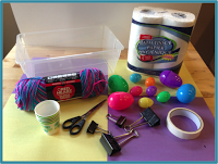 materials needed for Nice Nest Easter challenge