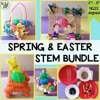 Click here to get my 5-in-1 Spring & Easter STEM Challenge Bundle! Combine science, technology, engineering, and mathematics for hands-on and engaging learning! Designed for students in Grades 2-8.