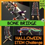 Halloween Activity & STEM Challenge: Bone Bridge is an engaging, collaborative, hands-on activity to keep students focused on learning before or after they say trick-or-treat!