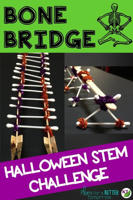 Halloween Activity & STEM Challenge: Bone Bridge