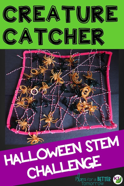 Halloween Activity & STEM Challenge: Creature Catcher is an engaging, collaborative, hands-on activity in which students design a device to catch spiders or other creatures.