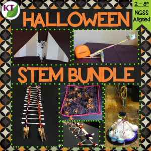 Click here for my 5-in-1 Halloween STEM Challenge Bundle. Combine science, technology, engineering, and mathematics for hands-on, engaging student learning (disguised as fun)! Modifications and extensions included for students in Grades 2-8.
