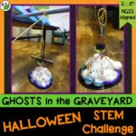Halloween Activity & STEM Challenge: Ghosts in the Graveyard is an engaging, collaborative, hands-on activity in which students design a device to lift ghost out of the graveyard.