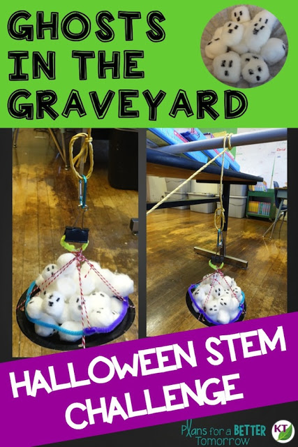 Halloween Activity & STEM Challenge: Ghosts in the Graveyard