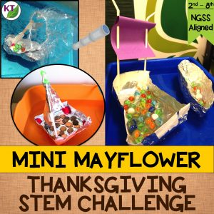 Thanksgiving STEM Challenge: Build a mini Mayflower for capacity and/or strength and sail to the New World. Includes modifications for grades 2 - 8.