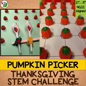 Thanksgiving STEM Challenge: In Pumpkin Picker, students build a pumpkin-harvesting device. Includes modifications grades 2 - 8.