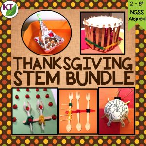 Looking for more Thanksgiving activities? Check out my Thanksgiving STEM Challenge 5-in-1 bundle. Guaranteed to keep students engaged in rigorous, yet fun activities before leaving for their holiday break!