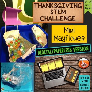 Mini Mayflower Thanksgiving STEM Challenge