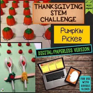 Pumpkin Picker Thanksgiving STEM Challenge