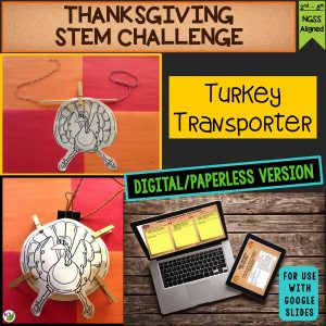 Click here for the digital/paperless version of Turkey Transporter Thanksgiving STEM Challenge