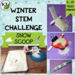 "WINTER STEM Challenge: In Snow Scoop, students essentially build a snow shovel, aiming for the most efficient removal of ""snow"" possible, with a couple of tweaks added in! Comes with modifications for grades 2-8."