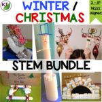 Looking for more Winter/Christmas activities? Check out my 5-in-1 Winter/Christmas STEM Challenge Bundle! Guaranteed to keep your students engaged and learning during the crazy holiday season!