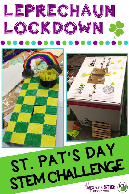 St. Patrick's Day STEM Challenge: In Leprechaun Lockdown, students create a leprechaun trap -- with a twist! Comes with modifications for grades 2-8.