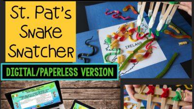 St. Patrick's Day STEM Challenge: St. Pat's Snake Snatcher Paperless Version
