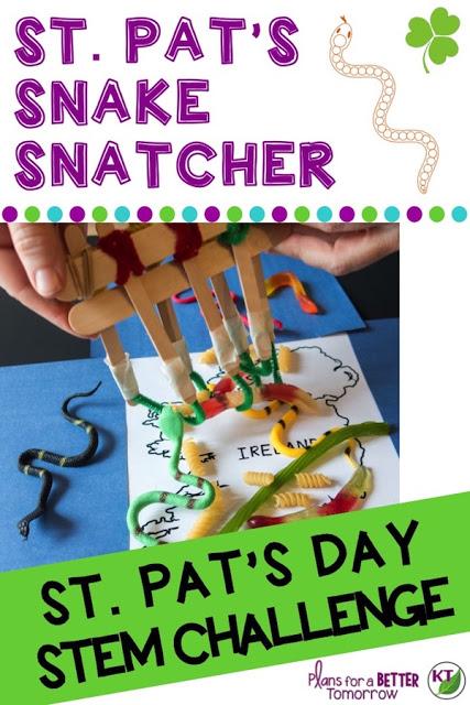 St. Patrick's Day Activity: St. Pat's Snake Snatcher STEM Challenge