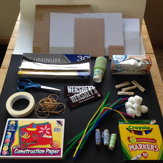 Materials needed for this End of the Year STEM Challenge