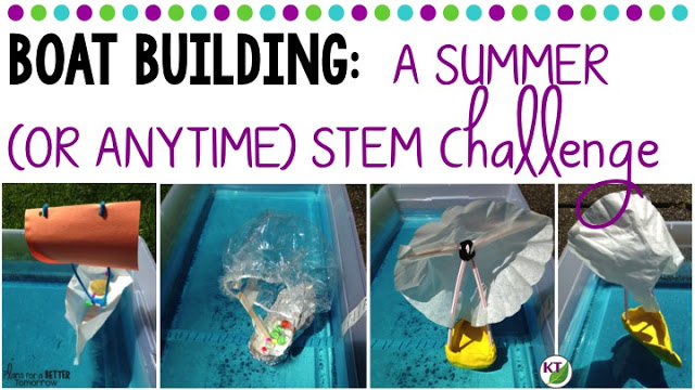 Summer STEM Challenge: In Boat Building, students will make a boat designed for capacity and/or speed! Includes modifications for grades 2-8.