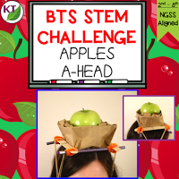 Back-to-School/Fall STEM Challenge: In Apples A-head, students build an apple-balancing device to be worn on their heads and test in a relay race. This challenge is perfect for studies of gravity, forces & motion, and includes modifications for grades 2-8.