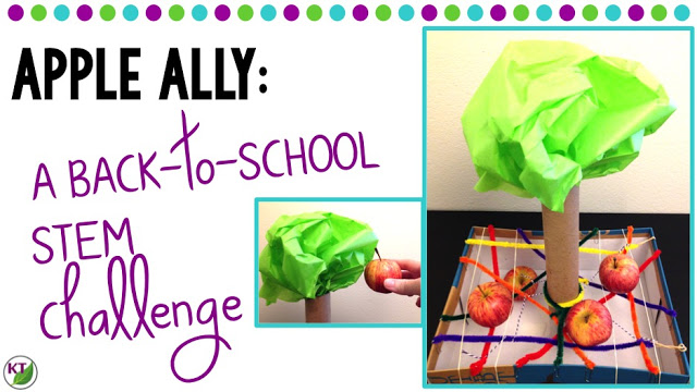 Back-to-School/Fall STEM Challenge: In Apple Ally, students build an apple catcher to protect falling apples from damage! This challenge is perfect for studies of gravity, forces, and motion, and includes modifications for grades 2-8.