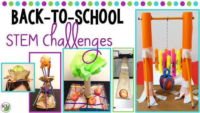 Back-to-School STEM / STEAM Challenges are the perfect ice-breaker. Get students engaged in brain-busting work disguised as fun. These challenges work well to introduce and explore Newton's laws of motion and come with modifications for grades 2-8.