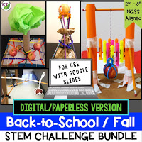 Click here for the digital resource of my Back-to-School/Fall STEM Challenge Bundle. Included are 5 STEM Challenges perfectly themed for this time of year. Combine science, technology, engineering, and mathematics for hands-on, engaging learning disguised as fun for your students! Modifications included for students in Grades 2-8.