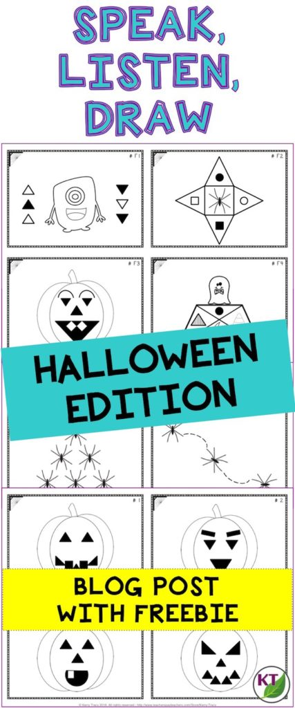 This Halloween activity is a great to tool to practice oral and written communication skills as well as reinforce math vocabulary, estimation, and measurement skills.