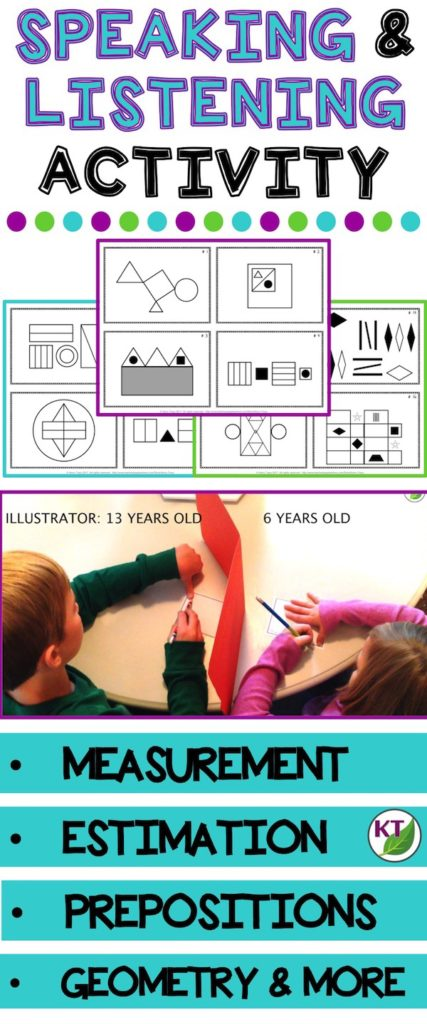 This activity is a great to tool to practice oral and written communication skills as well as reinforce math vocabulary, estimation, and measurement skills. Students will describe relative size and position of various shapes, lines, and angles [triangle (right, acute, obtuse, scalene, equilateral, isosceles), square, rectangle, parallelogram, hexagon, pentagon, octagon, circle, oval, parallel lines, intersecting lines, perpendicular lines, etc.]