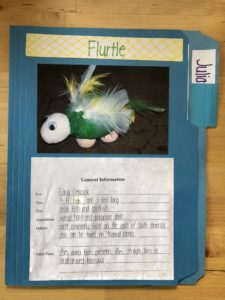 Example of a student's create-ure