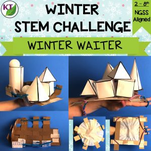 "This STEM Challenge is the perfect antidote to cabin fever! In groups, students will design waiter's trays to hold ""snowy"" 3D solids that they'll test in a winter-themed, indoor relay race."