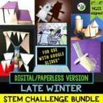 Click here for the digital/paperless version of my Late Winter STEM Challenge Bundle