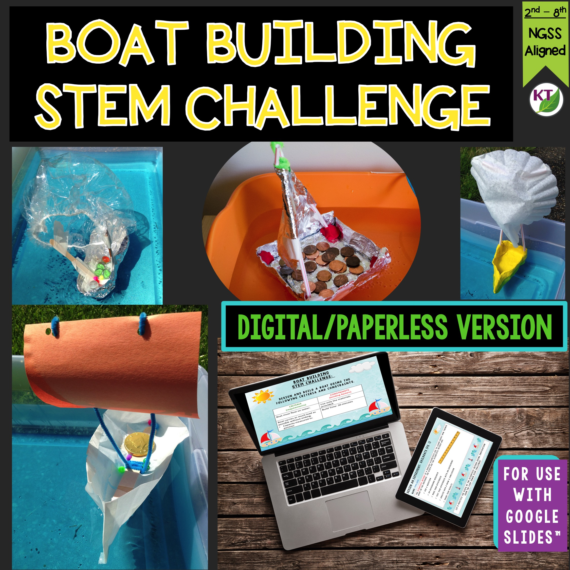 Boat Building Stem Challenge Paperless Version