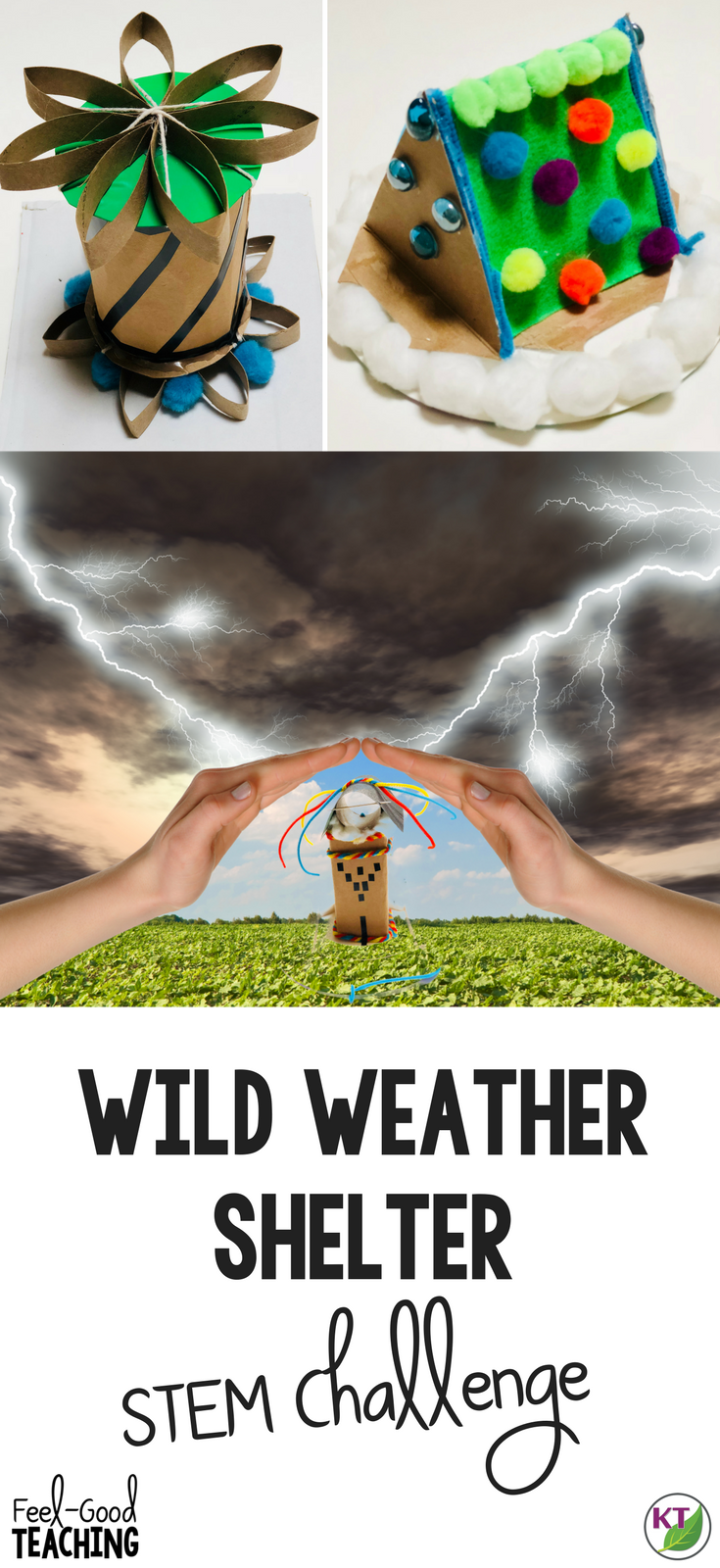 In this weather STEM Challenge activity students apply learning in weather, climate, natural disasters, natural resources & more! Students build shelters to protect against 3-12 weather and/or disaster events. Modifcations for grades 2-8 are included.