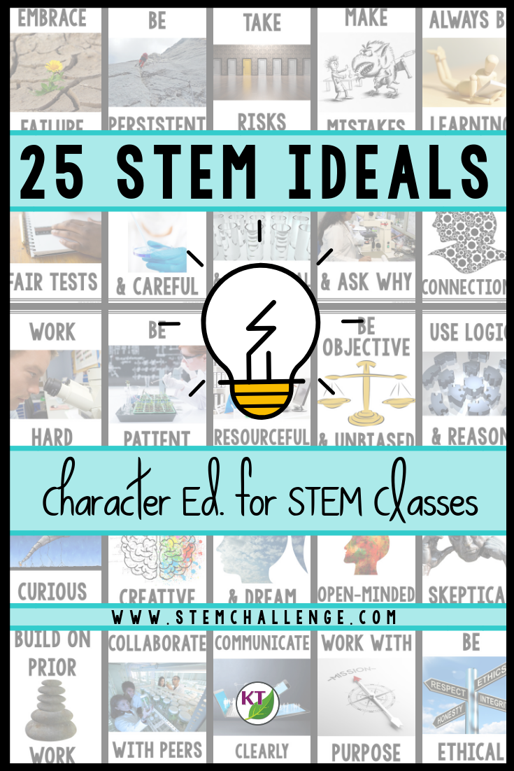 Why bring character education to STEM classrooms? The ideals found throughout this series aim to identify the special way scientists, and really all STEM Pros, think and behave so we may better practice the traits ourselves – in (and hopefully beyond) STEM classes!