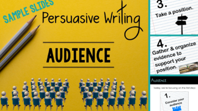 Persuasive Writing Audience Lesson